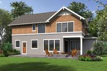 Craftsman Exterior - Rear Elevation Plan #48-1002