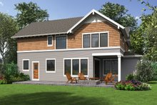 House Plan Design - Craftsman Exterior - Rear Elevation Plan #48-1002