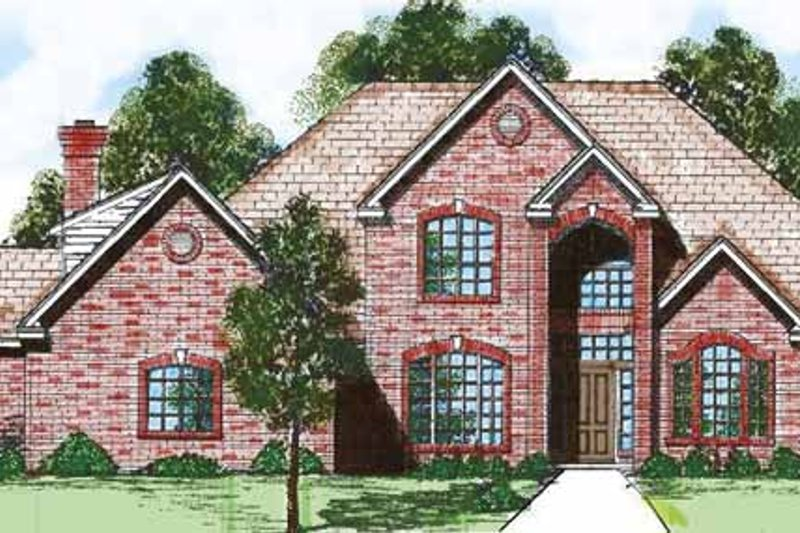 Traditional Exterior - Front Elevation Plan #52-272