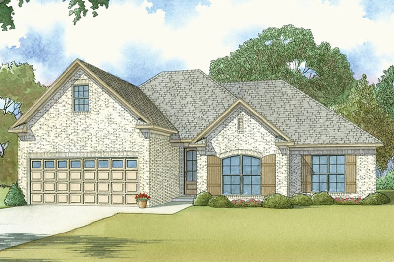 European Exterior - Front Elevation Plan #17-3409