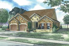 Home Plan - Mediterranean Exterior - Front Elevation Plan #17-2921