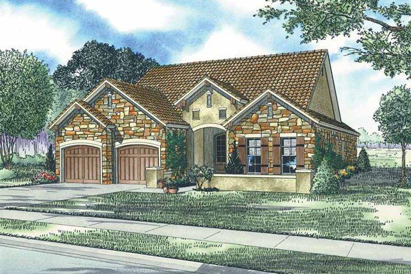 Dream House Plan - Mediterranean Exterior - Front Elevation Plan #17-2921