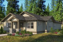 Architectural House Design - Craftsman Exterior - Front Elevation Plan #895-96