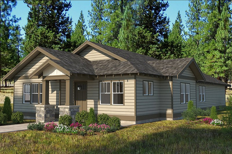 Craftsman Exterior - Front Elevation Plan #895-96