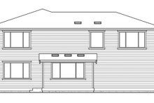 Prairie Exterior - Rear Elevation Plan #132-382