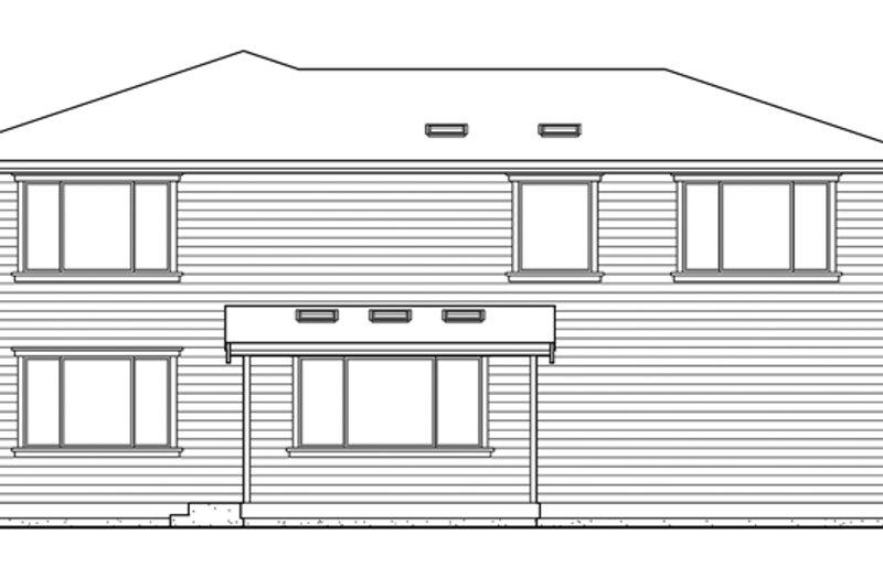 Prairie Exterior - Rear Elevation Plan #132-382 - Houseplans.com
