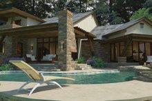 Cottage Exterior - Rear Elevation Plan #120-244