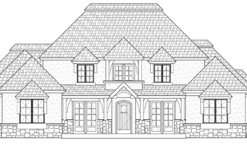Prairie Exterior - Front Elevation Plan #937-31 - Houseplans.com