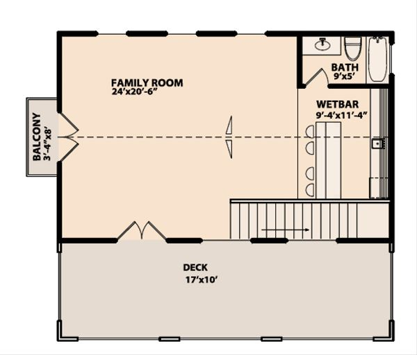 Mediterranean Floor Plan - Upper Floor Plan Plan #515-11