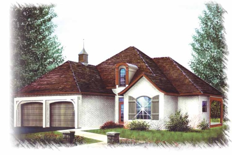 Country Exterior - Front Elevation Plan #15-359