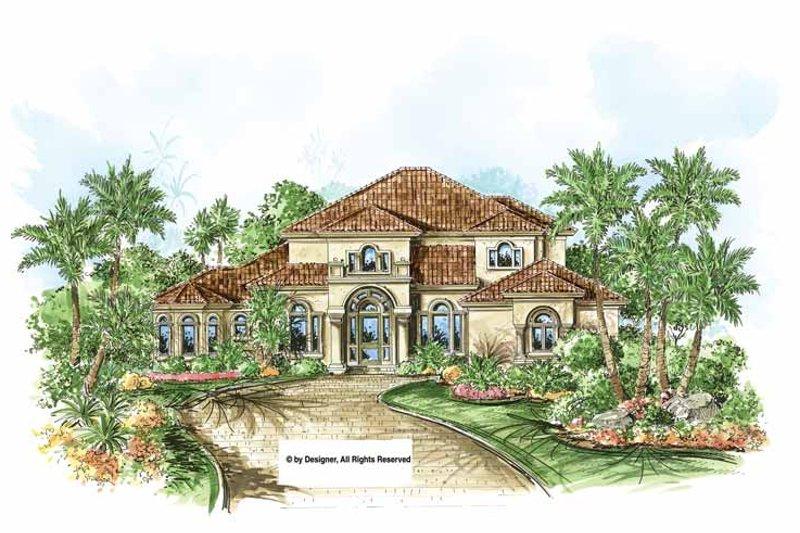 House Design - Mediterranean Exterior - Front Elevation Plan #1017-150