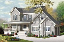Country Exterior - Front Elevation Plan #23-2558