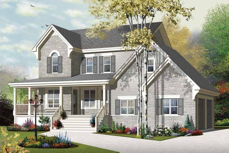 Country Exterior - Front Elevation Plan #23-2558 - Houseplans.com