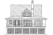 Country Style House Plan - 3 Beds 2.5 Baths 1843 Sq/Ft Plan #929-37 Exterior - Rear Elevation