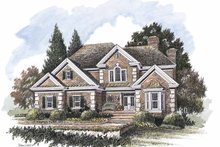 House Plan Design - Colonial Exterior - Front Elevation Plan #429-212