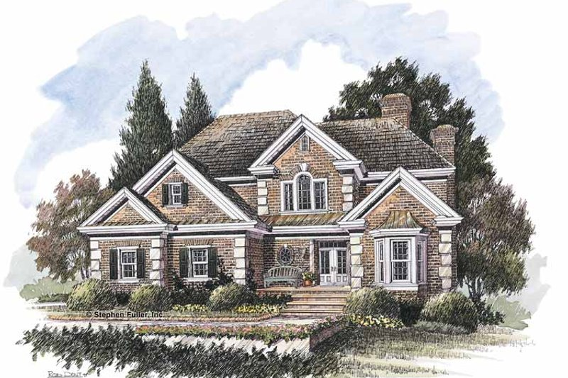 Colonial Exterior - Front Elevation Plan #429-212