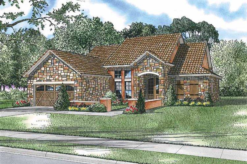 Dream House Plan - Mediterranean Exterior - Front Elevation Plan #17-2919