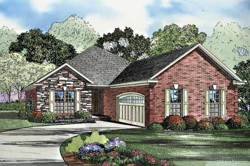 Ranch Exterior - Front Elevation Plan #17-3187