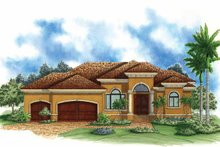 Mediterranean Exterior - Front Elevation Plan #1017-115