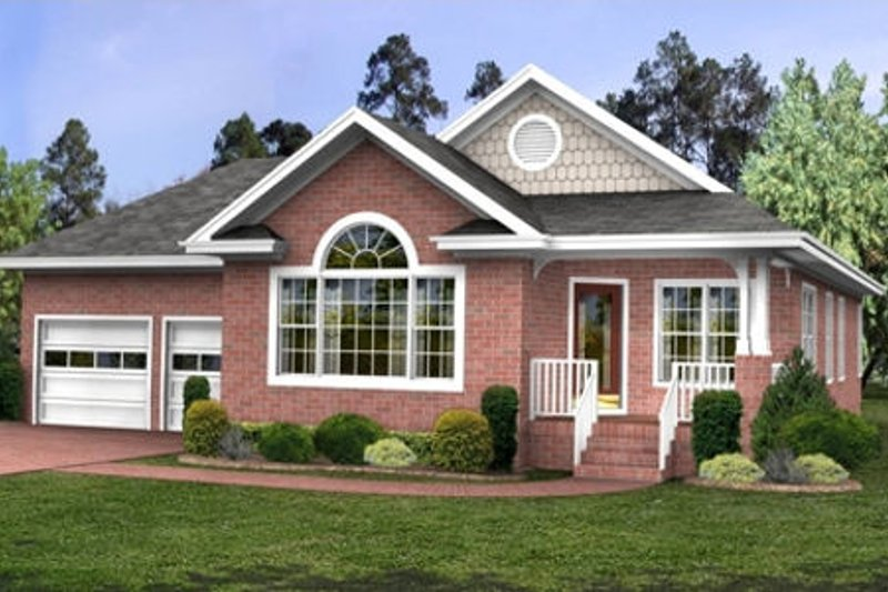 Southern Exterior - Front Elevation Plan #56-231 - Houseplans.com