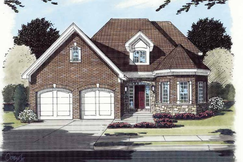 Contemporary Exterior - Front Elevation Plan #46-771 - Houseplans.com