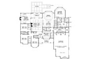 European Style House Plan - 5 Beds 4 Baths 3222 Sq/Ft Plan #929-1020 Floor Plan - Main Floor Plan