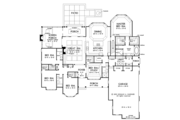 European Style House Plan - 5 Beds 4 Baths 3222 Sq/Ft Plan #929-1020 Floor Plan - Main Floor