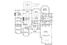 European Floor Plan - Main Floor Plan Plan #929-1020