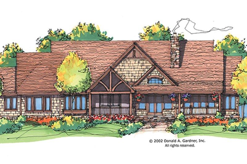 Craftsman Exterior - Rear Elevation Plan #929-928 - Houseplans.com