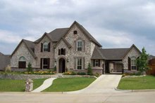 Home Plan - Tudor Exterior - Front Elevation Plan #84-731