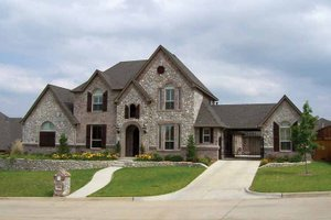 Dream House Plan - Tudor Exterior - Front Elevation Plan #84-731