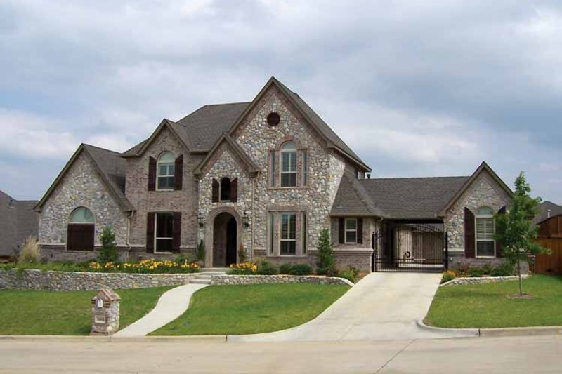 Dream House Plan - Tudor Exterior - Front Elevation Plan #84-731