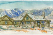 Adobe / Southwestern Style House Plan - 4 Beds 3.5 Baths 3412 Sq/Ft Plan #928-182 Exterior - Front Elevation