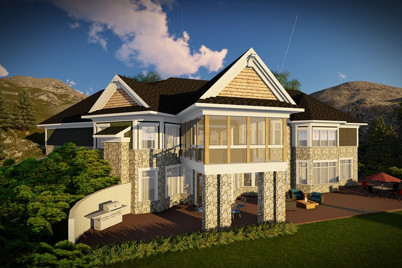 Architectural House Design - Ranch Exterior - Rear Elevation Plan #70-1472