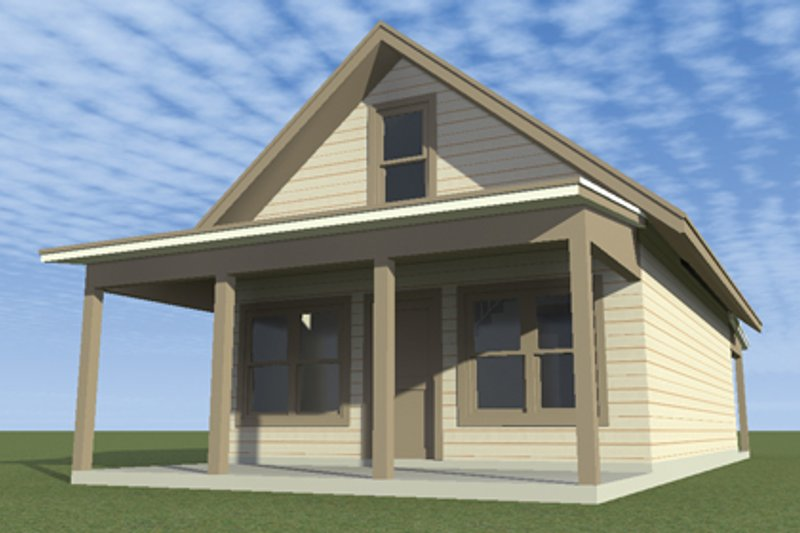 Country Exterior - Front Elevation Plan #64-301 - Houseplans.com