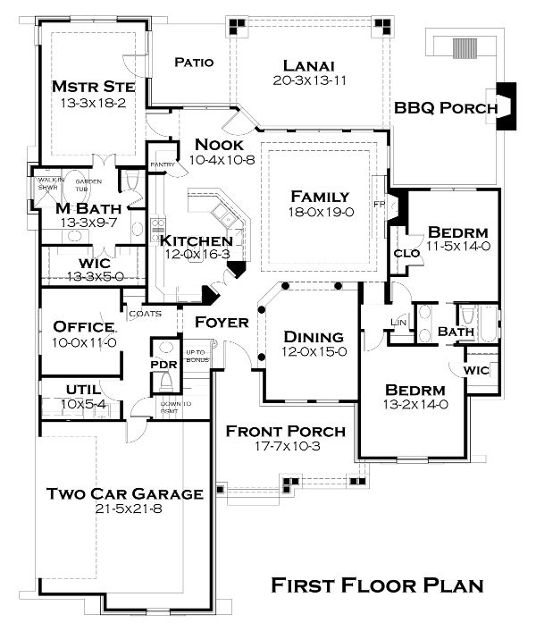 2,200 sft rustic ranch house plans by David Wiggins