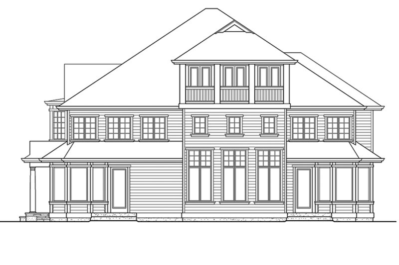 Classical Exterior - Rear Elevation Plan #132-512 - Houseplans.com