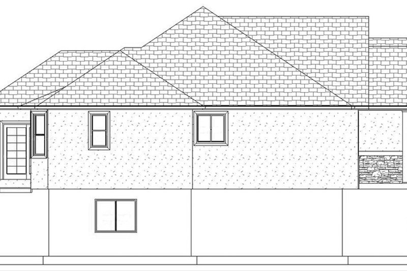Ranch Exterior - Other Elevation Plan #1060-11 - Houseplans.com