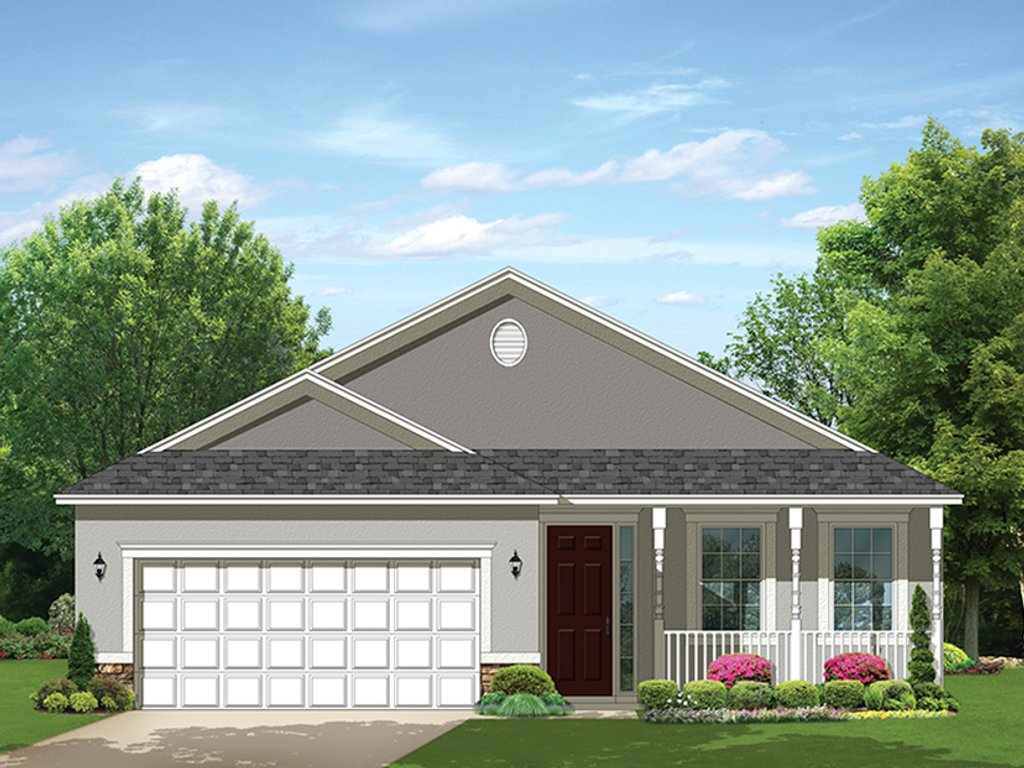 Ranch Style House Plan - 2 Beds 2 Baths 1400 Sq/Ft Plan ...