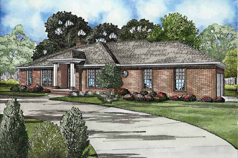 Dream House Plan - Ranch Exterior - Front Elevation Plan #17-3165