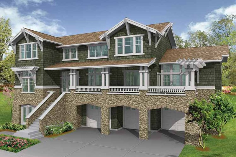 Craftsman Exterior - Front Elevation Plan #132-469 - Houseplans.com