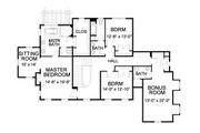 Traditional Style House Plan - 4 Beds 4.5 Baths 4250 Sq/Ft Plan #490-15 Floor Plan - Upper Floor Plan