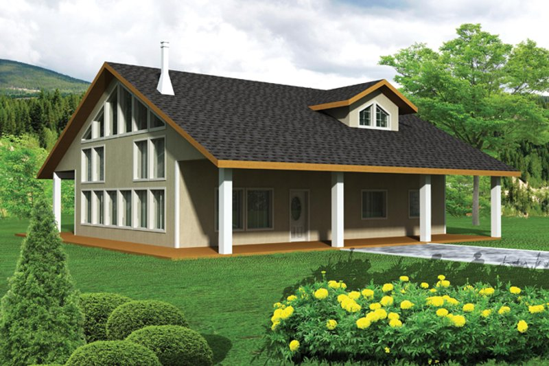 Contemporary Exterior - Front Elevation Plan #117-860