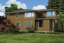 House Plan Design - Contemporary Exterior - Rear Elevation Plan #132-564