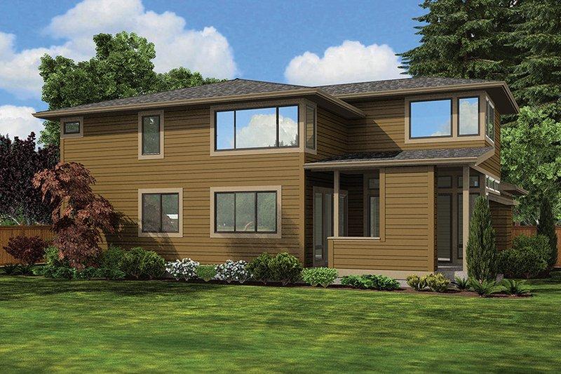 Contemporary Exterior - Rear Elevation Plan #132-564 - Houseplans.com