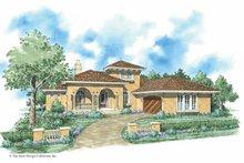 House Plan Design - Mediterranean Exterior - Front Elevation Plan #930-285