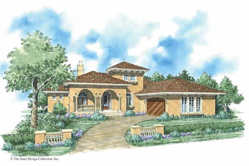 Architectural House Design - Mediterranean Exterior - Front Elevation Plan #930-285