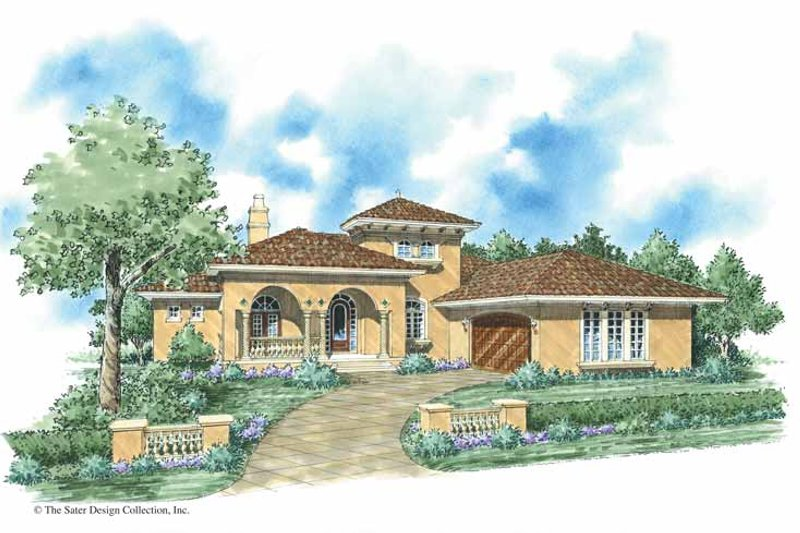 Mediterranean Style House Plan - 3 Beds 2.5 Baths 2192 Sq/Ft Plan #930-285 Exterior - Front Elevation