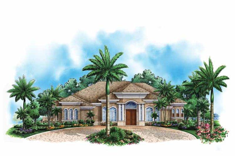 Mediterranean Exterior - Front Elevation Plan #1017-144 - Houseplans.com