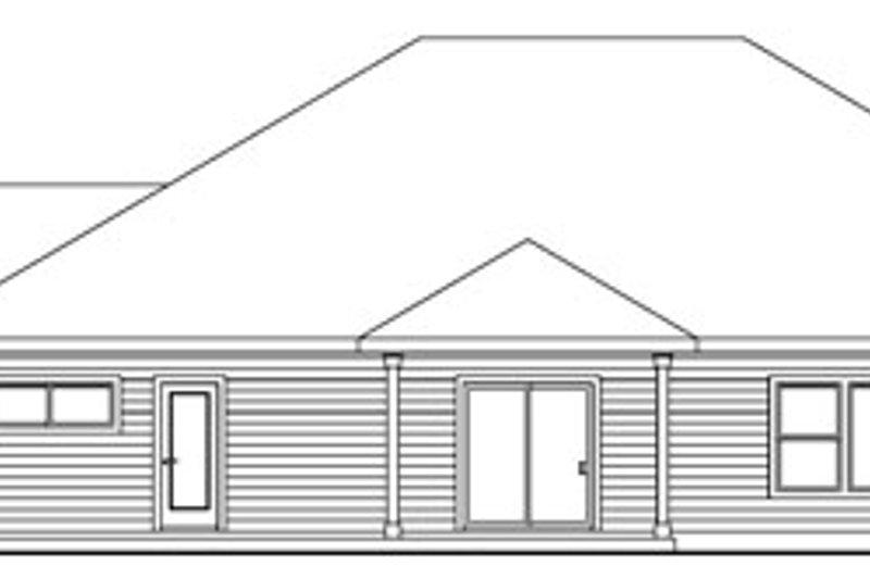 Ranch Exterior - Rear Elevation Plan #124-672 - Houseplans.com